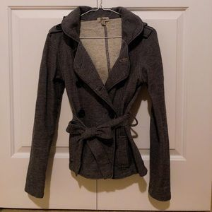 Comfy Light Coat with Brooch in Grey by Guess